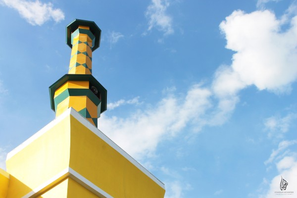 one of the beautiful minaret of the masjid