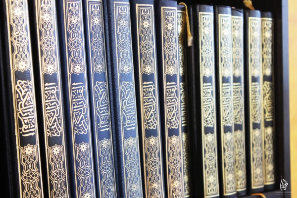 set of Madinah Mushaf in the masjid free for reading